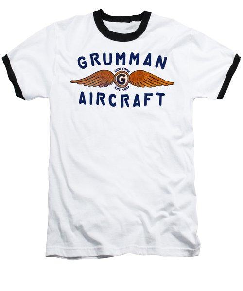 Grumman Wings Blue Baseball T-Shirt