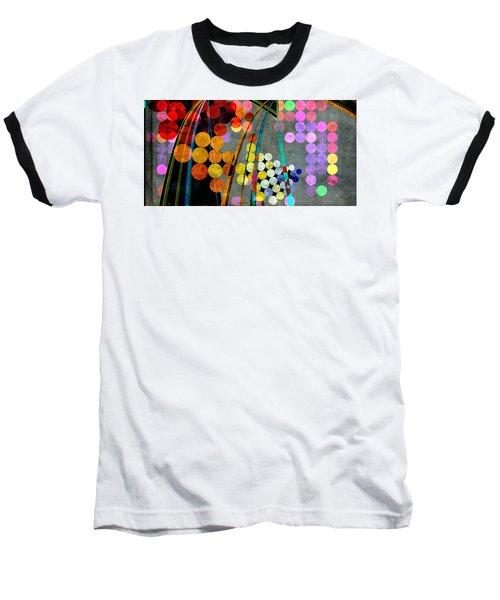 Baseball T-Shirt featuring the digital art Grunge City Lights by Fran Riley
