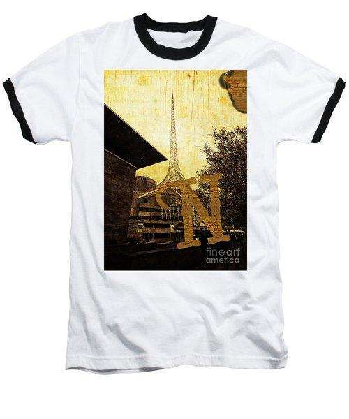Grungy Melbourne Australia Alphabet Series Letter N National Gal Baseball T-Shirt