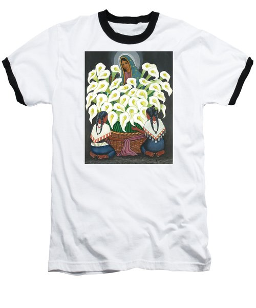 Guadalupe Visits Diego Rivera Baseball T-Shirt
