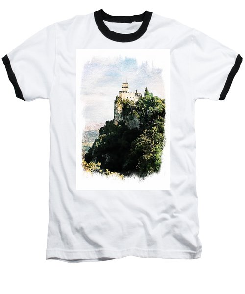 Guaita Castle Fortress Baseball T-Shirt by Joseph Hendrix