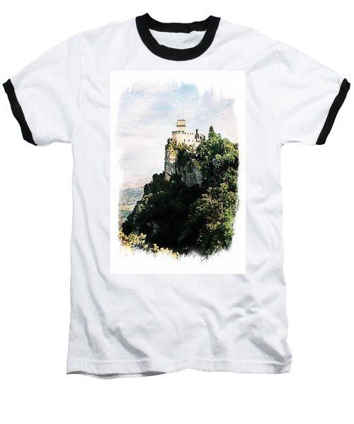 Guaita Castle Fortress Baseball T-Shirt