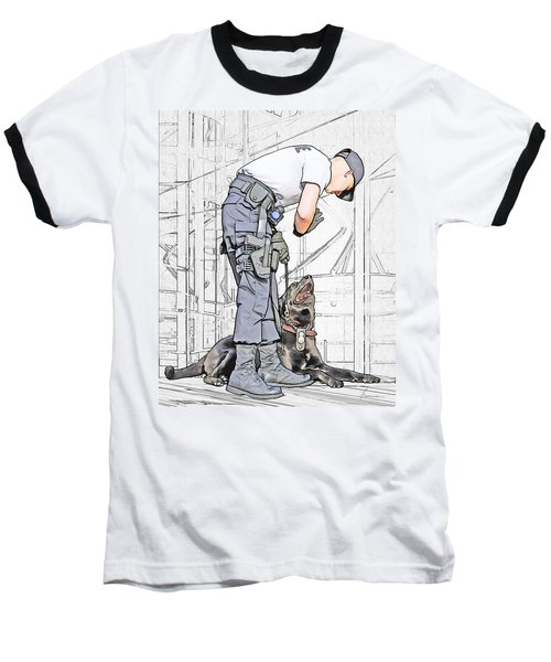 Guarding The City Baseball T-Shirt
