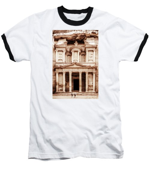 Guarding The Petra Treasury Baseball T-Shirt by Nicola Nobile