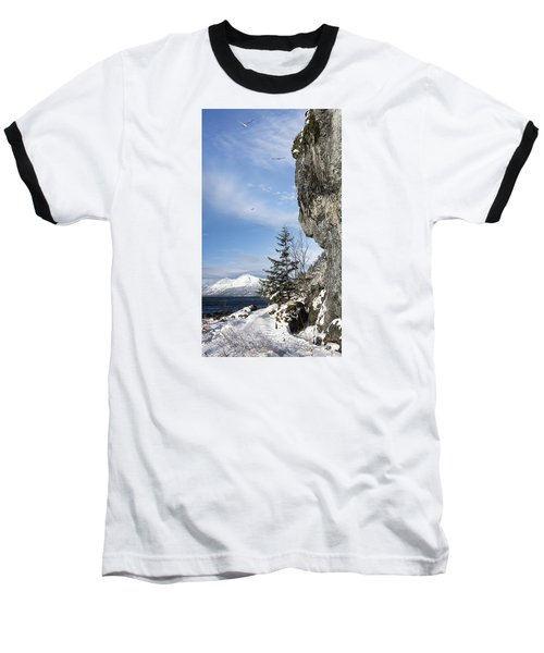 Gulls Of Winter Baseball T-Shirt by Michele Cornelius