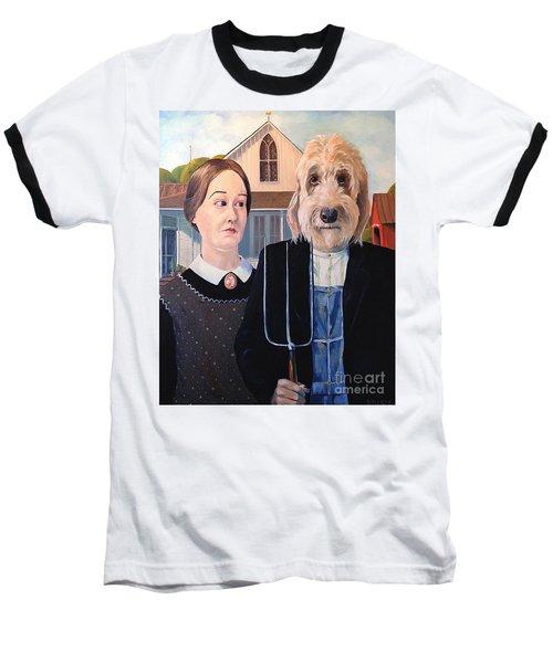 Gunther Goes Goth Baseball T-Shirt by Diane Daigle