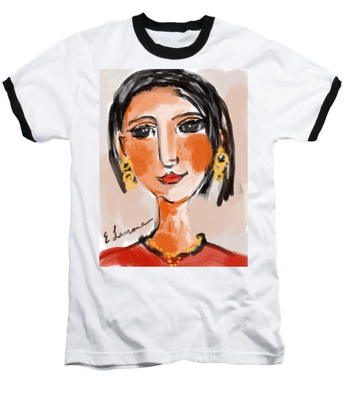 Gypsy Lady Baseball T-Shirt by Elaine Lanoue
