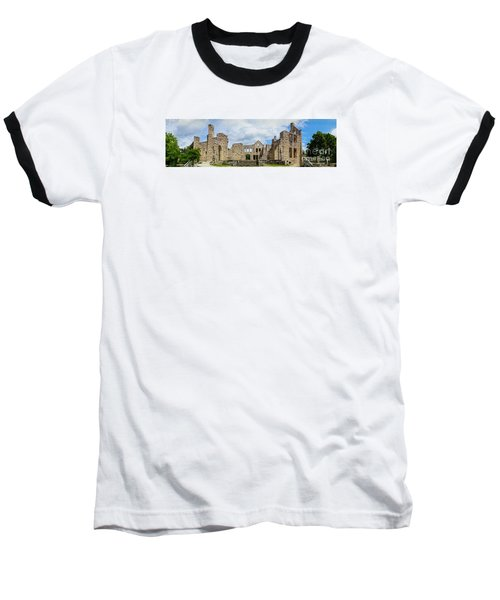 Ha Ha Tonka Castle Panorama Baseball T-Shirt