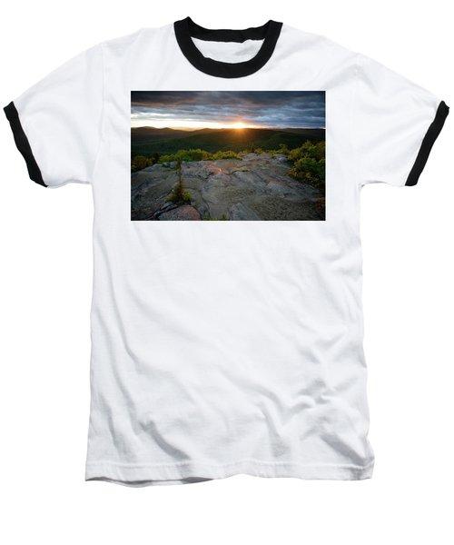 Hadley Mountain Sunset Baseball T-Shirt