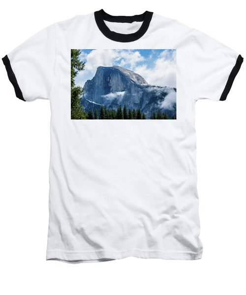 Half Dome In The Clouds Baseball T-Shirt