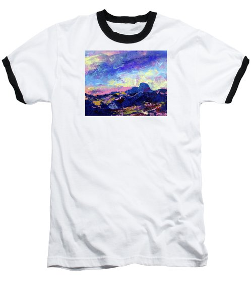 Half Dome Summer Sunrise Baseball T-Shirt by Walter Fahmy