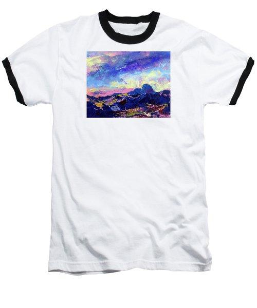 Half Dome Summer Sunrise Baseball T-Shirt