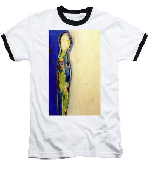 Half Man Half Blue Baseball T-Shirt