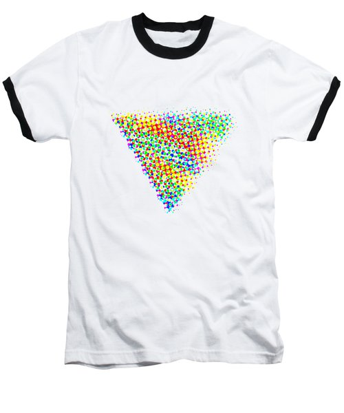 Halftone Triangle  Baseball T-Shirt