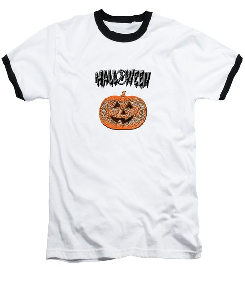 Halloween Pumpkin Baseball T-Shirt