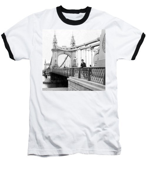 Hammersmith Bridge In London - England - C 1896 Baseball T-Shirt by International  Images