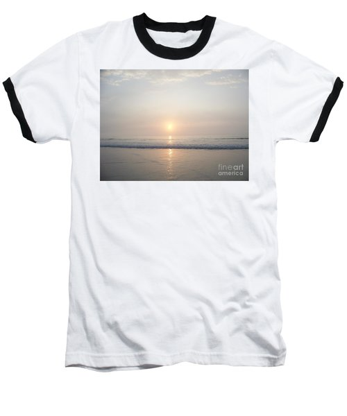 Hampton Beach Sunrise Baseball T-Shirt by Eunice Miller