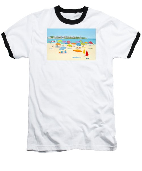 Hampton Beach Umbrellas Baseball T-Shirt
