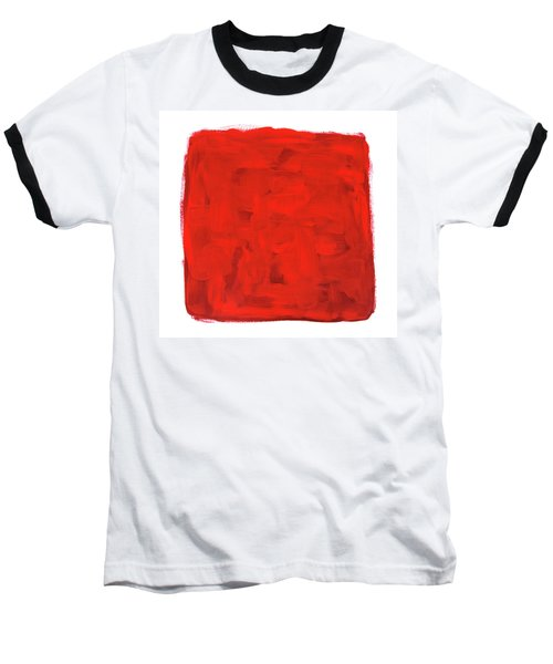 Handmade Vibrant Abstract Oil Painting Baseball T-Shirt by GoodMood Art