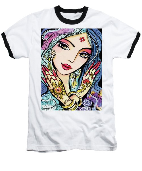 Baseball T-Shirt featuring the painting Hands Of India by Eva Campbell