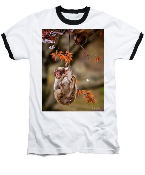 Baseball T-Shirt featuring the photograph Hang In There, Baby Redux by Rikk Flohr