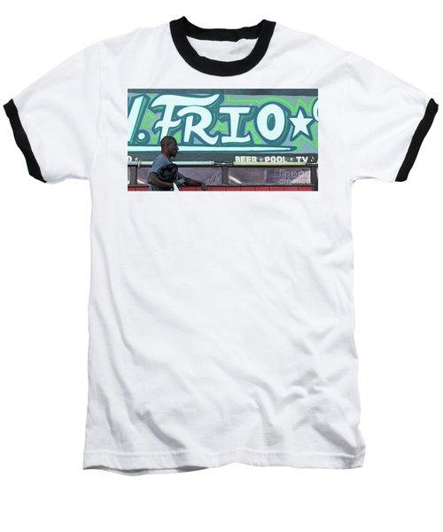 Baseball T-Shirt featuring the photograph Hanging Out On Frio Street by Joe Jake Pratt