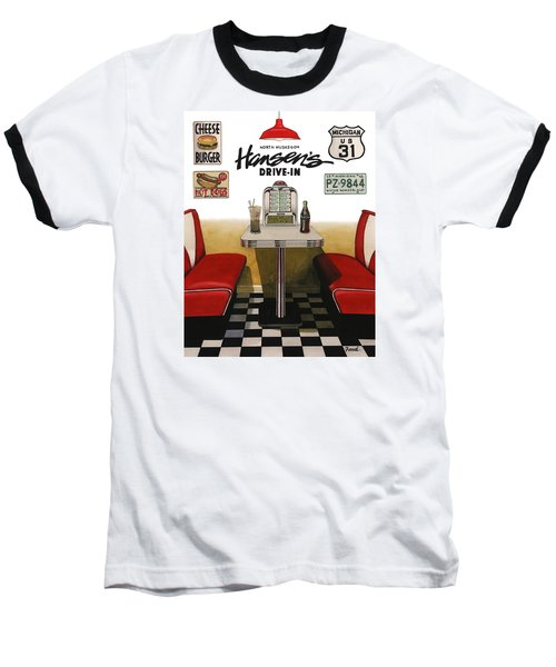 Hansen's Drive-in Baseball T-Shirt by Ferrel Cordle