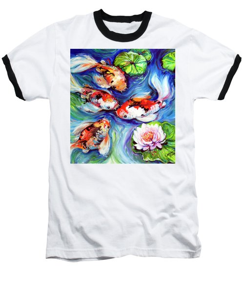 Happiness Koi Baseball T-Shirt by Marcia Baldwin