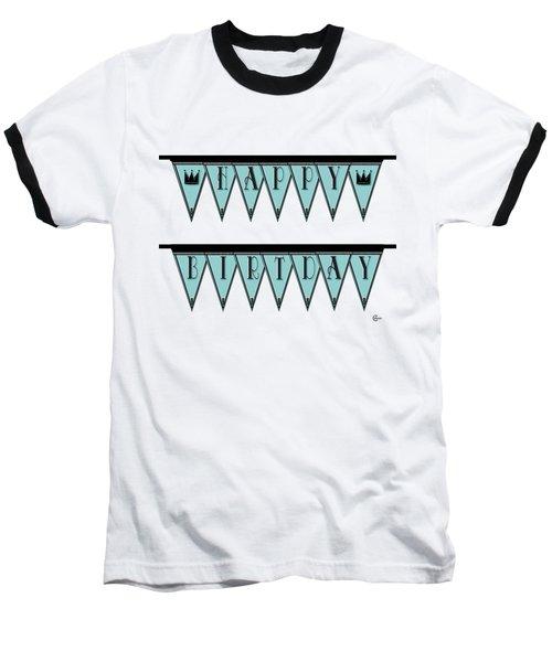 Pennant Deco Blues Sign Happy Birthday Baseball T-Shirt