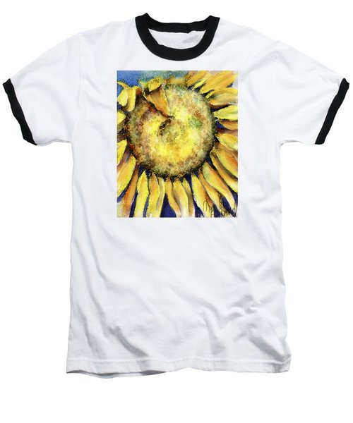 Baseball T-Shirt featuring the painting Happy Day by Annette Berglund