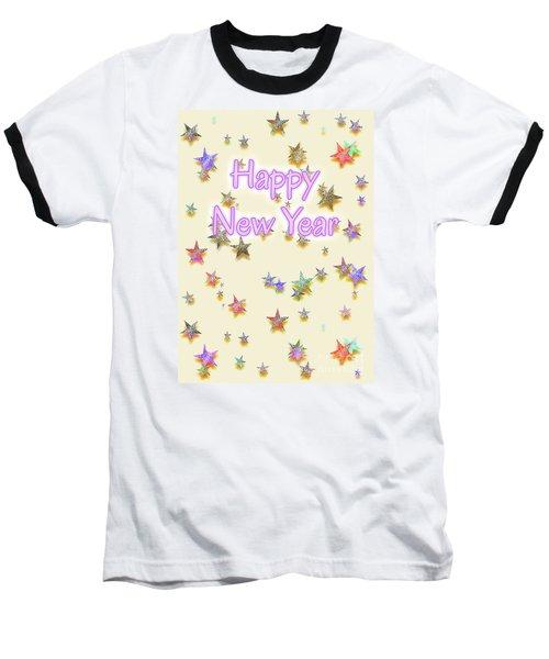 Happy New Year Stars Baseball T-Shirt