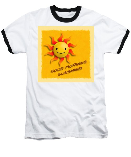 Happy Sun Face Baseball T-Shirt