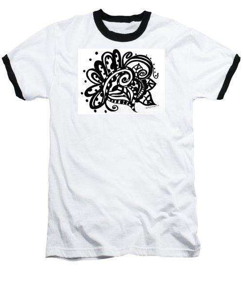Happy Swirl Doodle Baseball T-Shirt