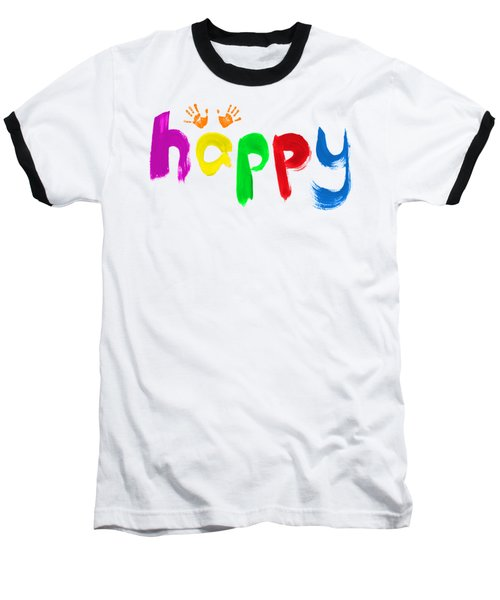Happy Baseball T-Shirt by Tim Gainey