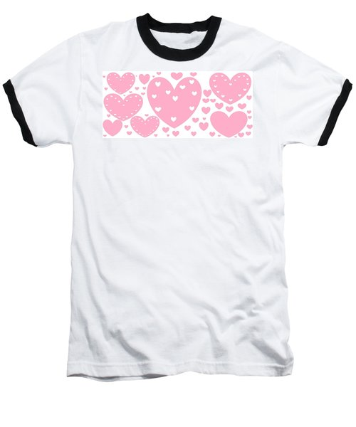 'just Hearts' Baseball T-Shirt