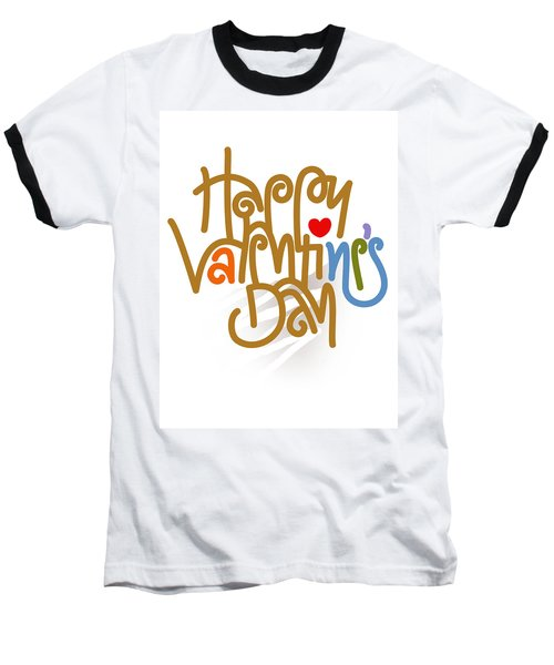 Happy Valentine's Day Poster Baseball T-Shirt