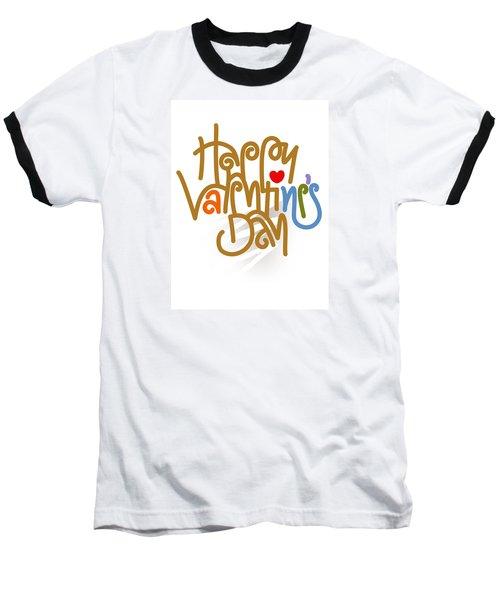 Happy Valentine's Day Poster Baseball T-Shirt
