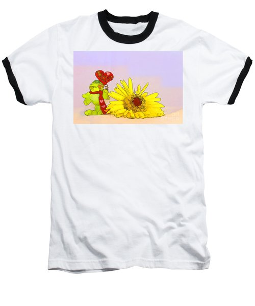 Baseball T-Shirt featuring the photograph Happy Valentine's Day by Teresa Zieba