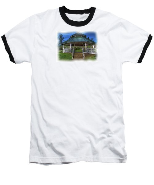 Baseball T-Shirt featuring the photograph Happy Valley Gazebo Art  by Thom Zehrfeld