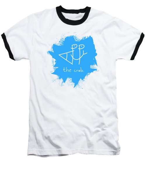 Happy The Crab - Blue Baseball T-Shirt