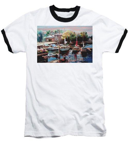 Harbor Sailboats At Rest Baseball T-Shirt