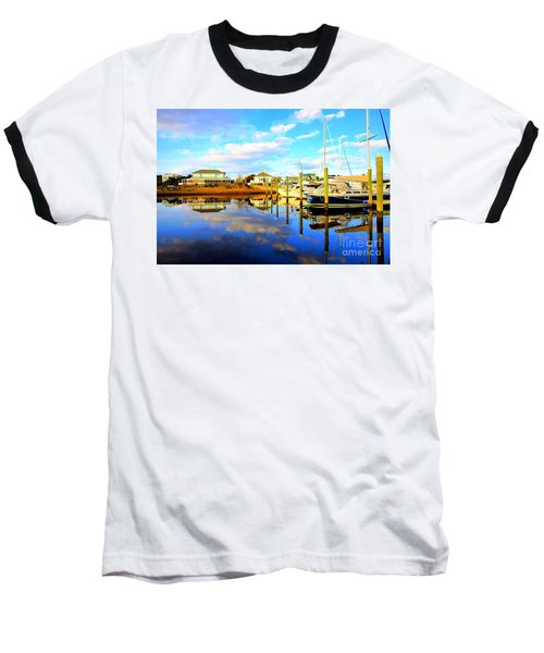 Baseball T-Shirt featuring the photograph Harbour Reflections by Shelia Kempf