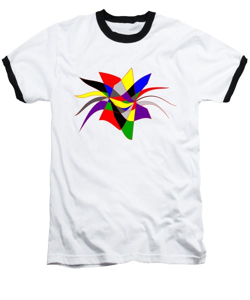 Harlequin Flower Baseball T-Shirt