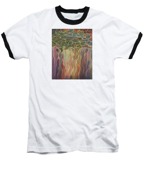 Harlequin Water Lillies Baseball T-Shirt