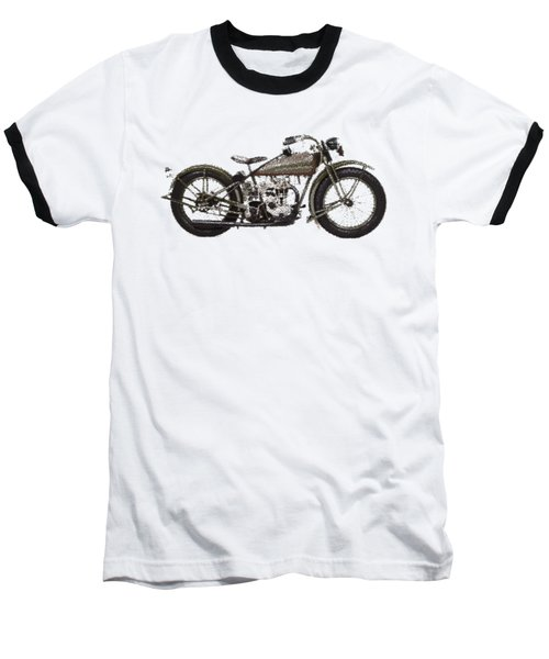 Harley-davidson Peashooter  - Parallel Hatching Baseball T-Shirt
