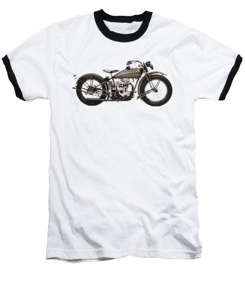 Harley-davidson Peashooter  - Parallel Hatching Baseball T-Shirt
