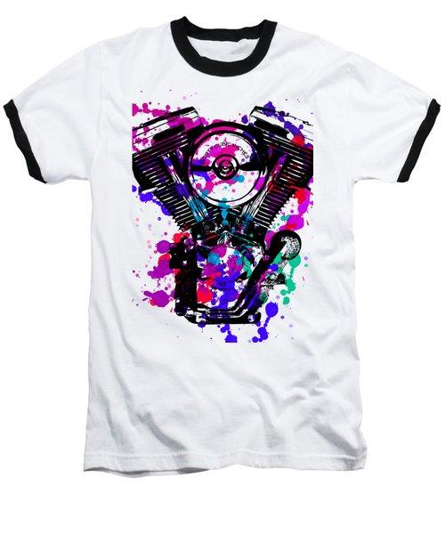 Harley Davidson Pop Art 2 Baseball T-Shirt