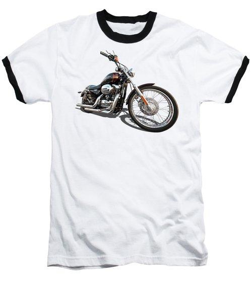 Harley Sportster Xl1200 Custom Baseball T-Shirt by Gill Billington