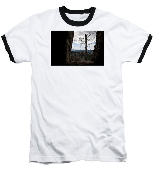 Baseball T-Shirt featuring the photograph Harney Peak Lookout by Deborah Klubertanz