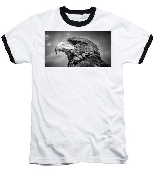 Harris Hawk  Black And White Baseball T-Shirt